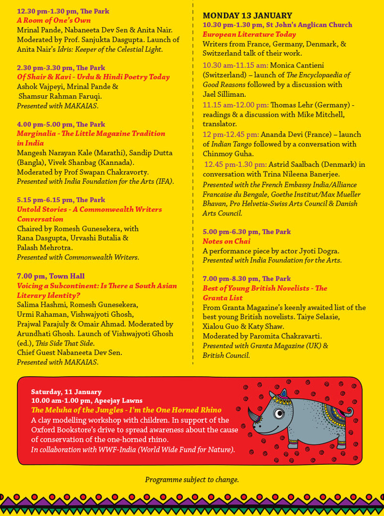 apeejay festival schedule part 2