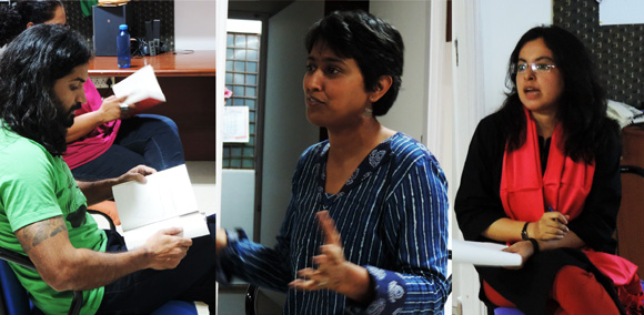 From our Maathukathes this quarter, (left to right) Amit Reddy, Ruchira Das and Shubhasree Bhattacharya